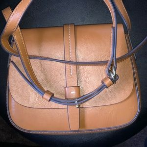 """Crossbody small purse from the Gap In """"cognac."""""""